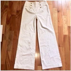 Ralph Lauren Pants - Ralph Lauren High Waisted White Sailor Trousers
